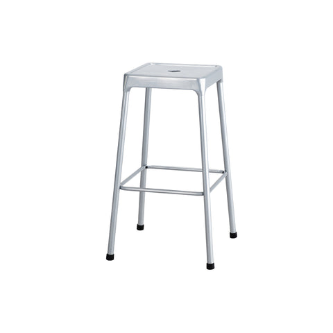 "Safco® Steel Stool, Bar-Height, 29""H, Silver"