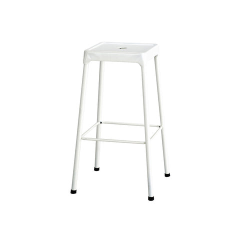 "Safco® Steel Stool, Bar-Height, 29""H, White"