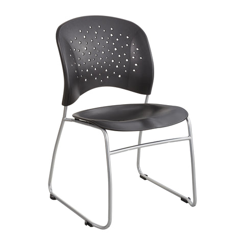 Reve™ Guest Chair, Sled Base, Round Back, Black