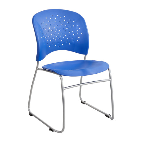 Reve™ Guest Chair, Sled Base, Round Back, Lapis