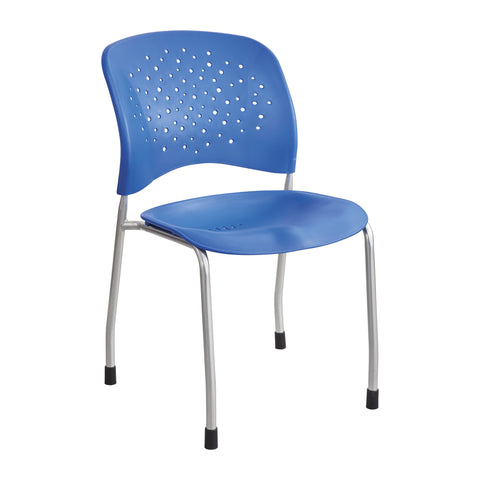 Reve™ Guest Chair, Straight Leg, Round Back, Lapis