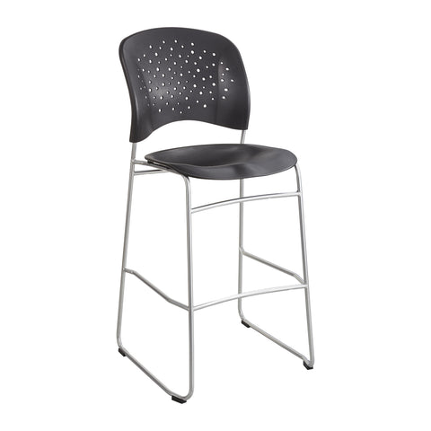 Reve™ Bistro-Height Chair, Round Back, Black