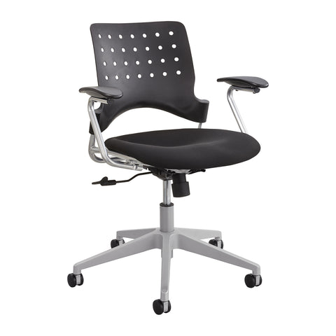 Reve™ Task Chair, Square Back, Black