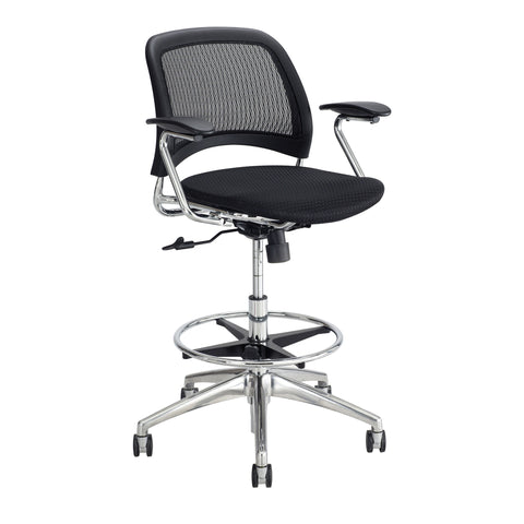 Reve™ Extended-Height Chair, Mesh Seat & Back, Black