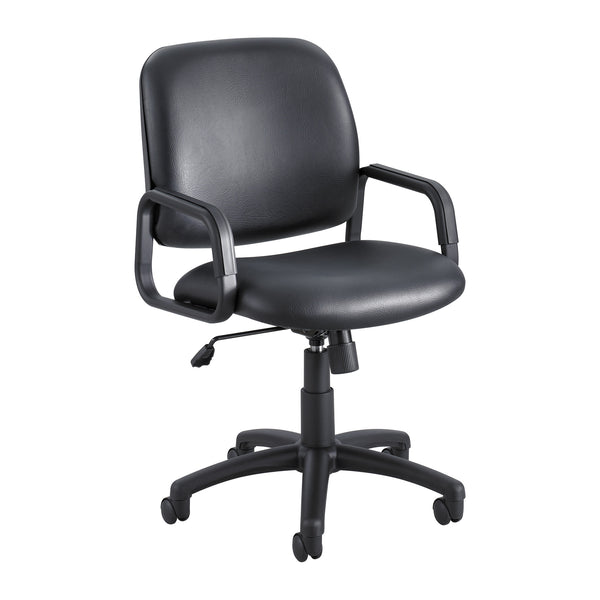 Cava® Urth™ Task Chair, High Back, Black Vinyl