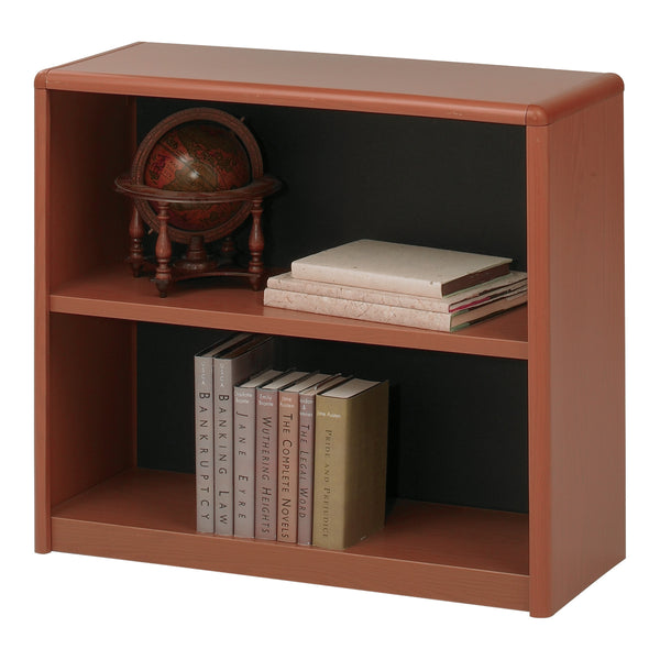 ValueMate® Economy Bookcase, 2 Shelf, Cherry