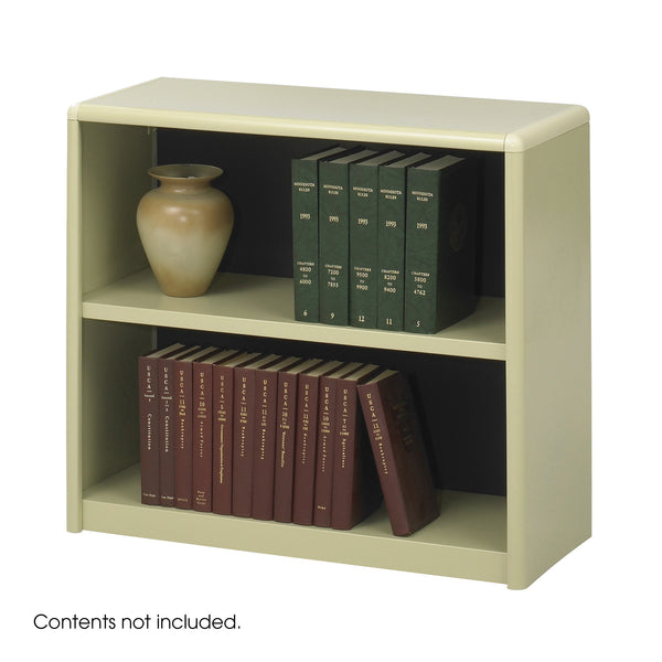 ValueMate® Economy Bookcase, 2 Shelf, Tan