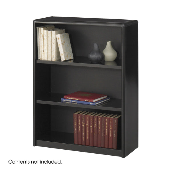 ValueMate® Economy Bookcase, 3 Shelf, Black