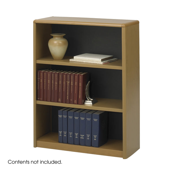 ValueMate® Economy Bookcase, 3 Shelf, Medium Oak