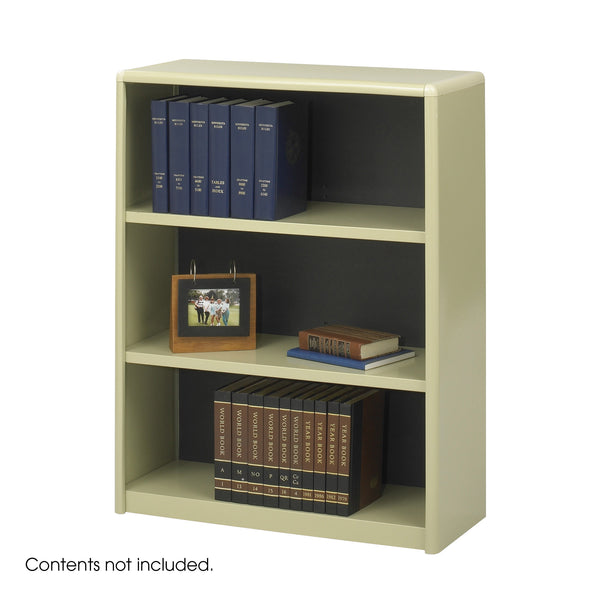 ValueMate® Economy Bookcase, 3 Shelf, Tan