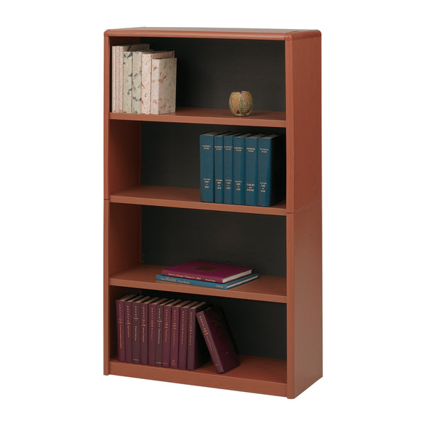 ValueMate® Economy Bookcase, 4 Shelf, Cherry