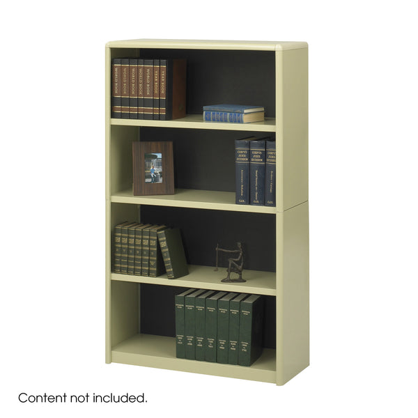ValueMate® Economy Bookcase, 4 Shelf, Tan