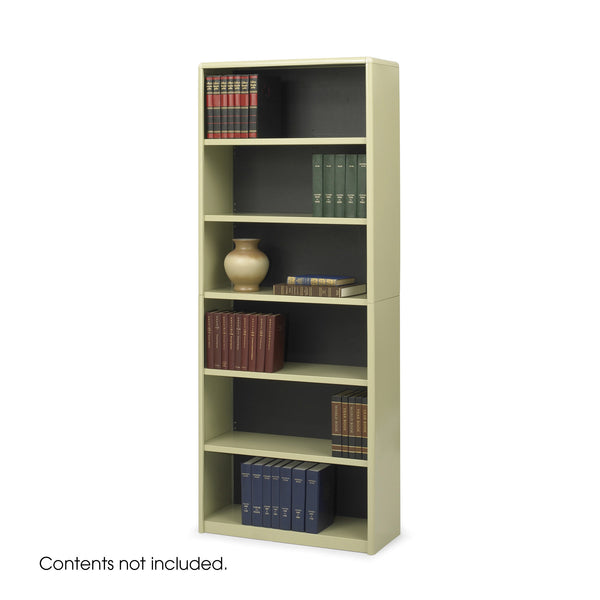 ValueMate® Economy Bookcase, 6 Shelf, Tan