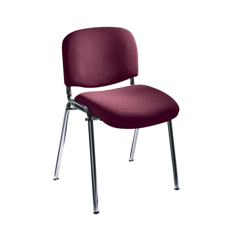 Visit Stack Chairs, Upholstered, Burgundy, (Qty. 2)