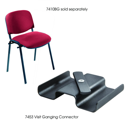 Visit Series Stack Chair Ganging Connector, Black