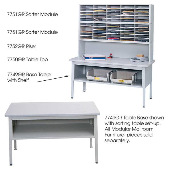 E-Z Sort® Sorting Table, Mailroom, Gray