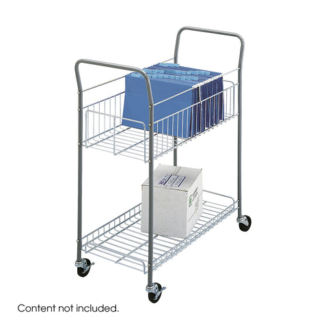 Economy Mail Cart, Mobile, Silver