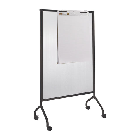 "Impromptu® Screen, Polycarbonate, 42 x 72"", Black"