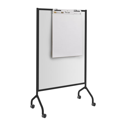 "Impromptu® Screen, Whiteboard, 42 x 72"", Black"