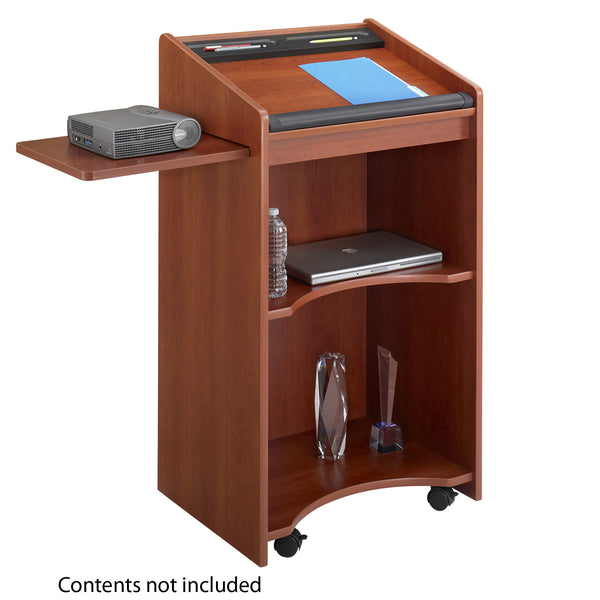 Executive Mobile Lectern, Cherry