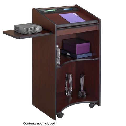 Executive Mobile Lectern, Mahogany