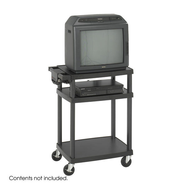 Adjustable AV/TV Cart, Plastic, Black