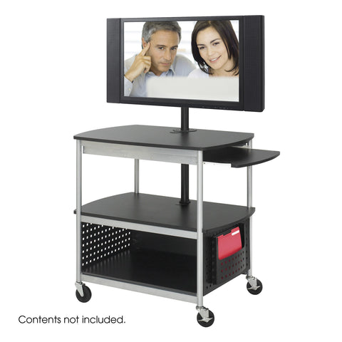 Scoot™ Open Flat Panel Multimedia Cart, Black