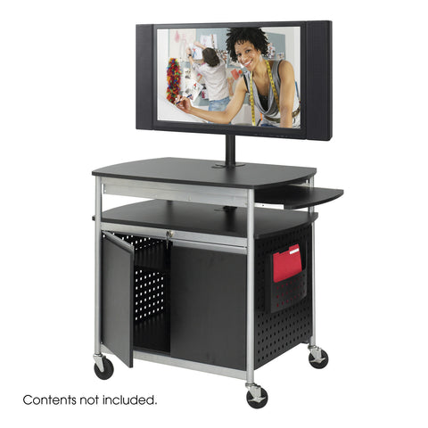 Scoot™ Flat Panel Multimedia Cart, Black