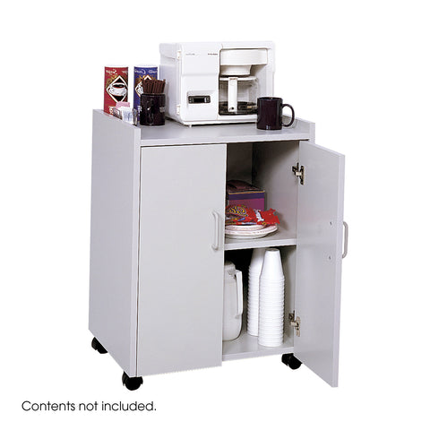 Mobile Refreshment Center, Hospitality & Beverage Cart, Gray