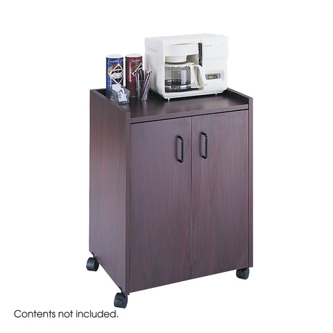 Mobile Refreshment Center, Hospitality & Beverage Cart, Mahogany