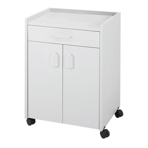 Mobile Refreshment Center with Drawer, Hospitality & Beverage Cart, Gray