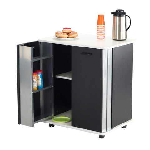 Refreshment Stand, Hospitality & Beverage Cart, Black