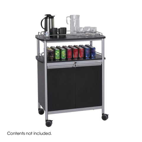 Mobile Beverage Cart, Hospitality Cart, Black
