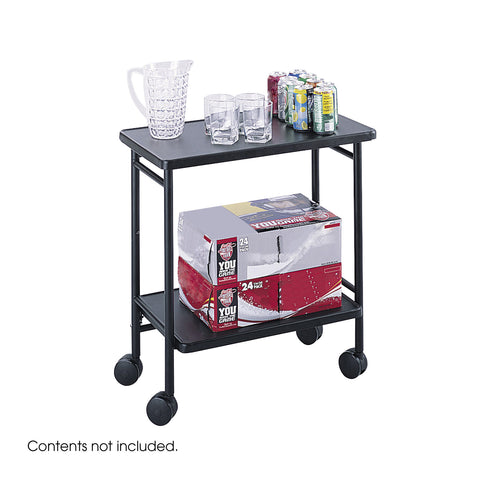 Folding Office Cart, Hospitality & Beverage Cart, Black