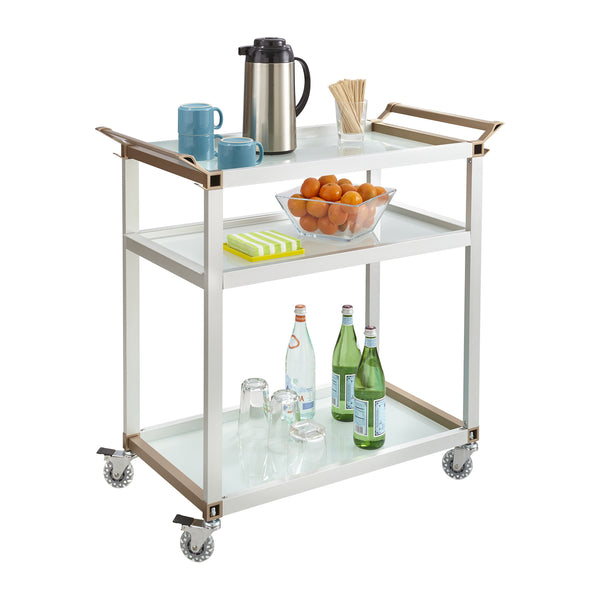 Large Refreshment Cart, Hospitality & Beverage, Silver