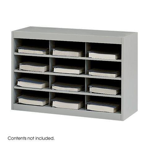 E-Z Stor® Steel Project Organizer, 12 Compartments, Gray