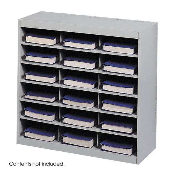 E-Z Stor® Steel Project Organizer, 18 Compartments, Gray