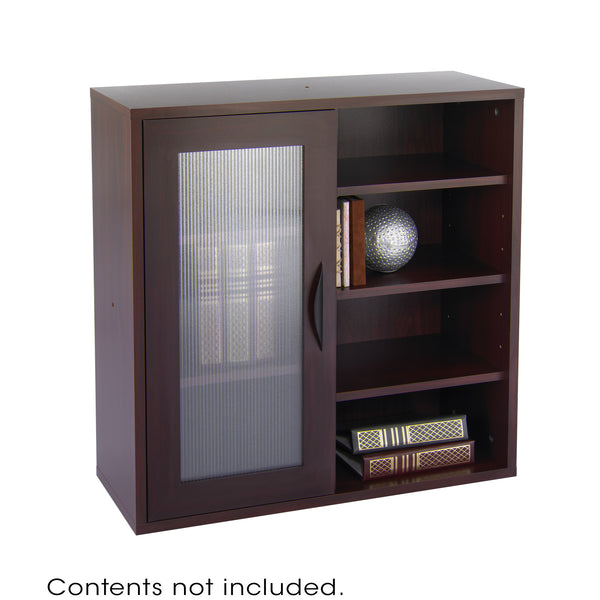 Apres™ Modular Storage, Single Door/ Open Shelves, Mahogany