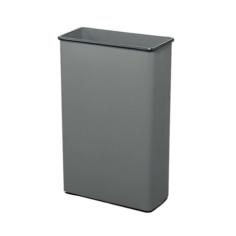 Rectangular Trash Can, 88 Quarts, Gray, (Qty. 3)