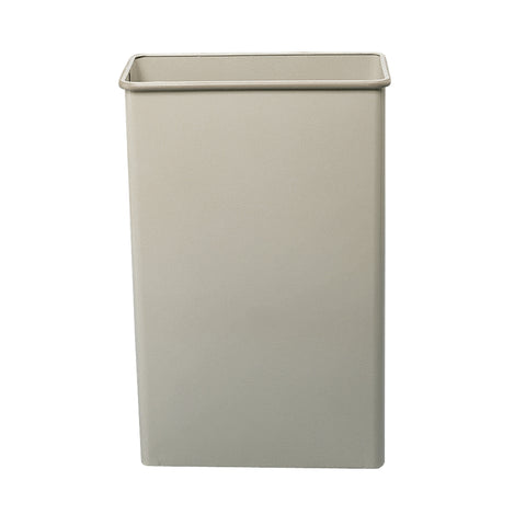 Rectangular Trash Can, 88 Quarts, Tan, (Qty. 3)