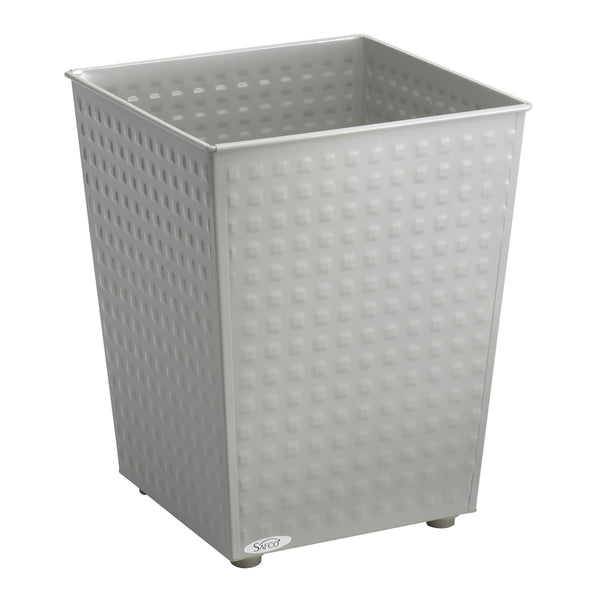 Checks Trash Can, 6 Gallon, Gray, (Qty. 3)