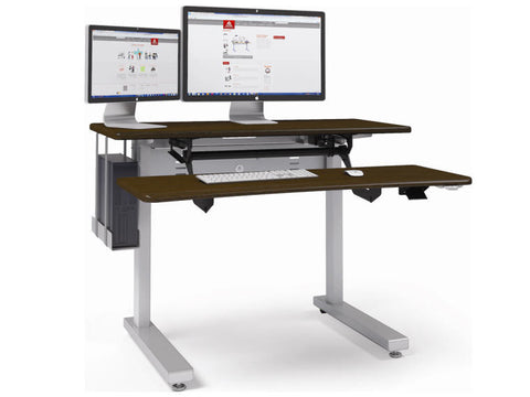 Anthro Elevate Adjusta Sit Stand Desk 48 Inches Black