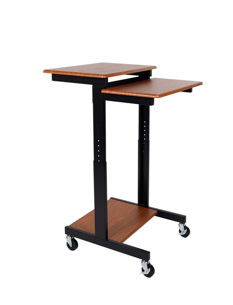 Adjustable Height Presentation Workstation by Luxor