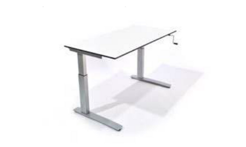 SiS SC2 Crank Height Adjustable Rectangle Desk (Crank handle)