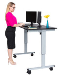 "Electric Standing Desk by Luxor 60"" STANDE-60-BK/DW"