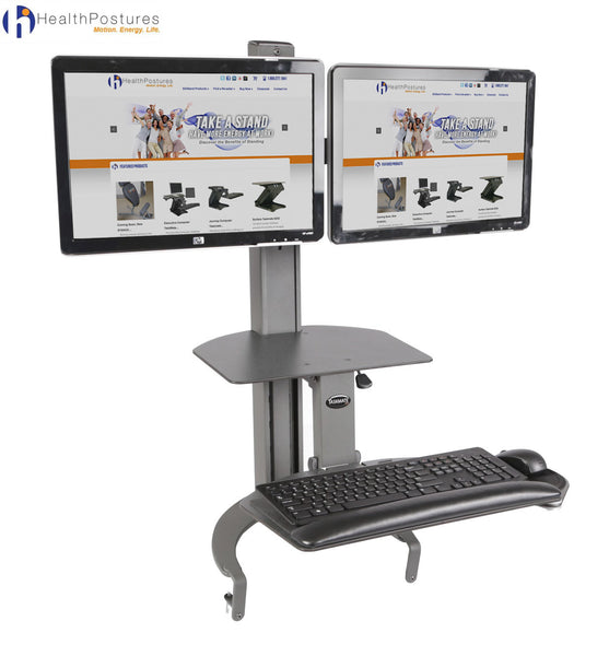 TaskMate Go Dual 6350 Sit-Stand Workstation