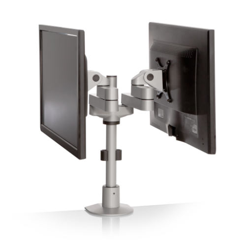 9120-FM – Dual Monitor Pole Mount