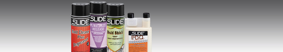mold releases, mold cleaners, rust preventives, lubricants, purging compounds