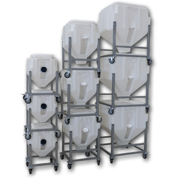 Resin Bin Model PS75L (81 lbs Capacity) - Plastics Solutions USA