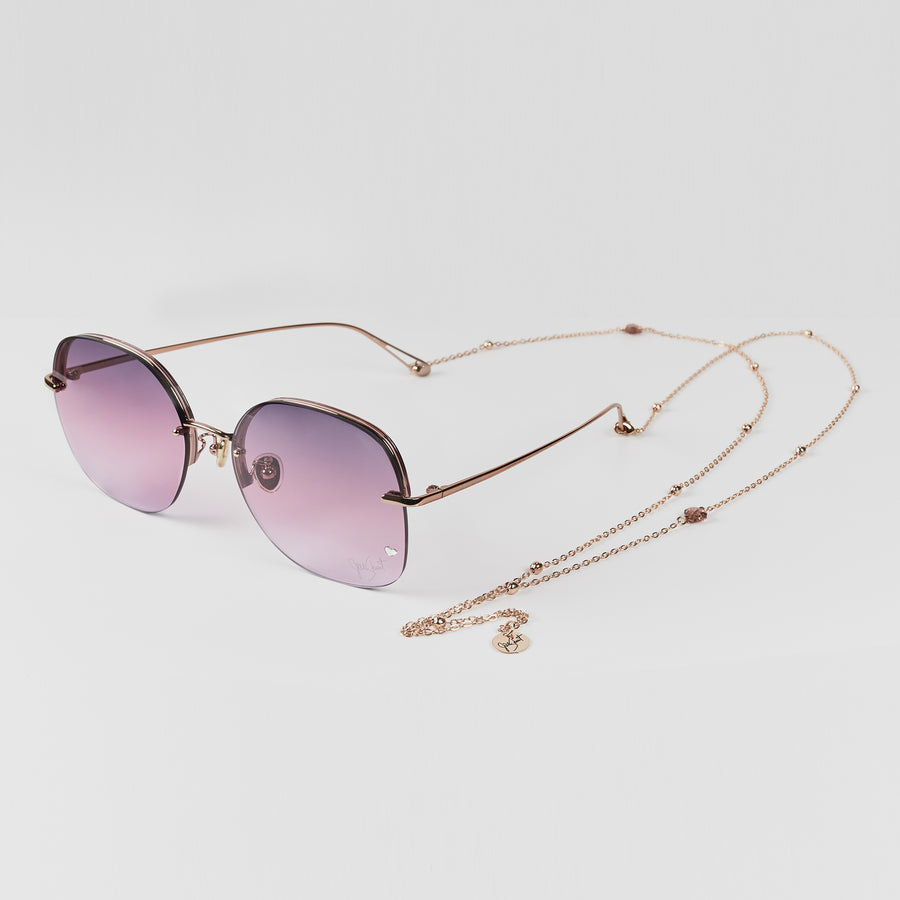 Rectangular Metal Sunglasses | JILLSTUART Eyewear HESTER